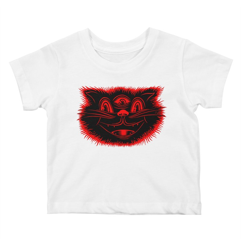 Meow Meow Kids Baby T-Shirt by redleggerstudio's Shop