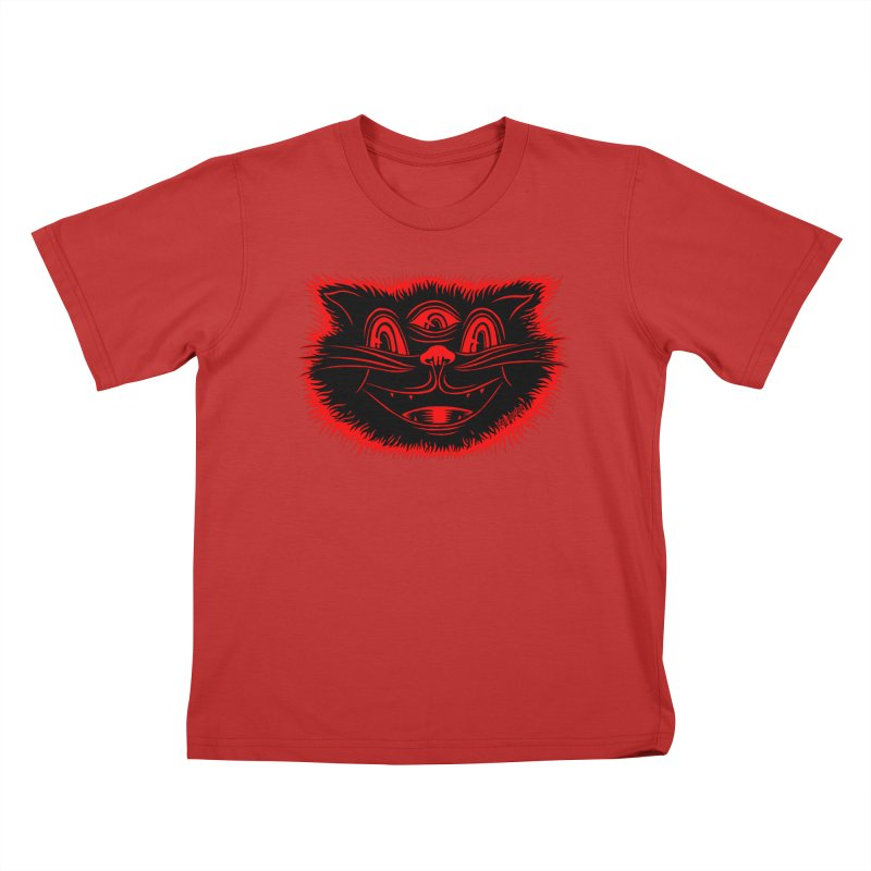 Meow Meow Kids T-Shirt by redleggerstudio's Shop