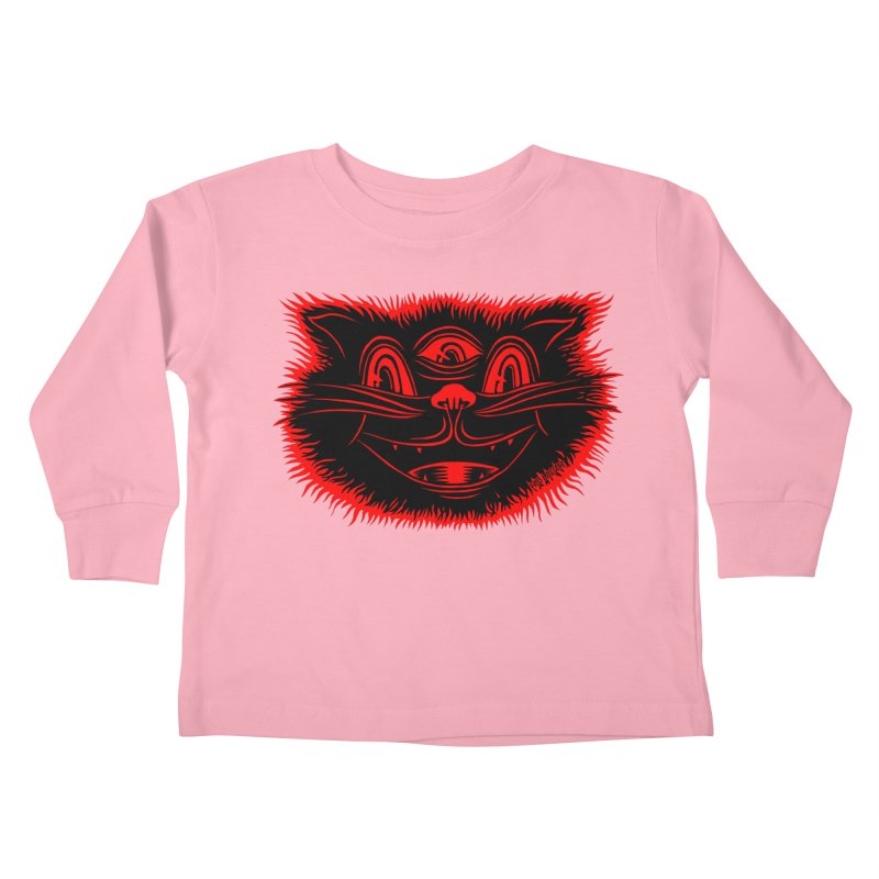 Meow Meow Kids Toddler Longsleeve T-Shirt by redleggerstudio's Shop