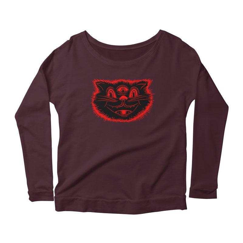 Meow Meow Women's Scoop Neck Longsleeve T-Shirt by redleggerstudio's Shop