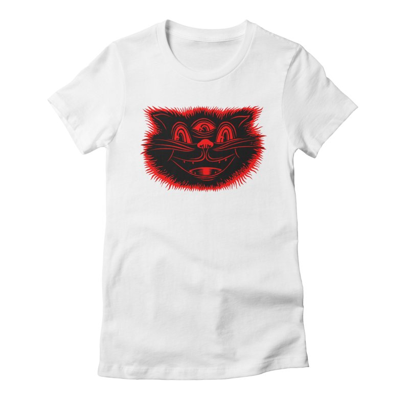 Meow Meow Women's Fitted T-Shirt by redleggerstudio's Shop