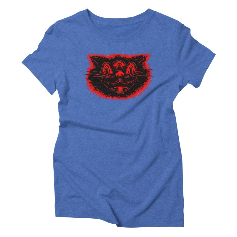 Meow Meow Women's Triblend T-Shirt by redleggerstudio's Shop