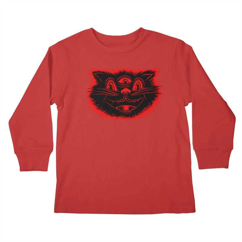 Meow Meow Kids Longsleeve T-Shirt by redleggerstudio's Shop