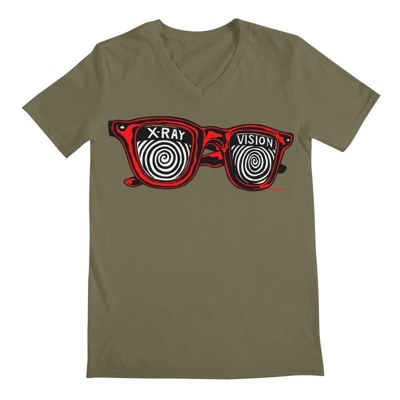 X-RAY Vision Men's Regular V-Neck by redleggerstudio's Shop