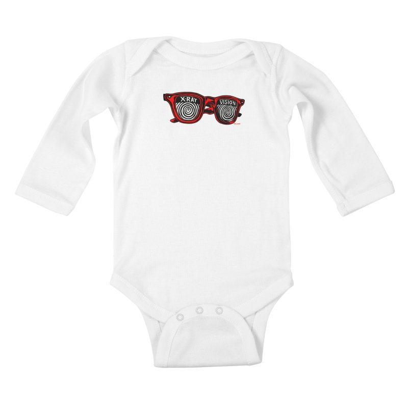 X-RAY Vision Kids Baby Longsleeve Bodysuit by redleggerstudio's Shop