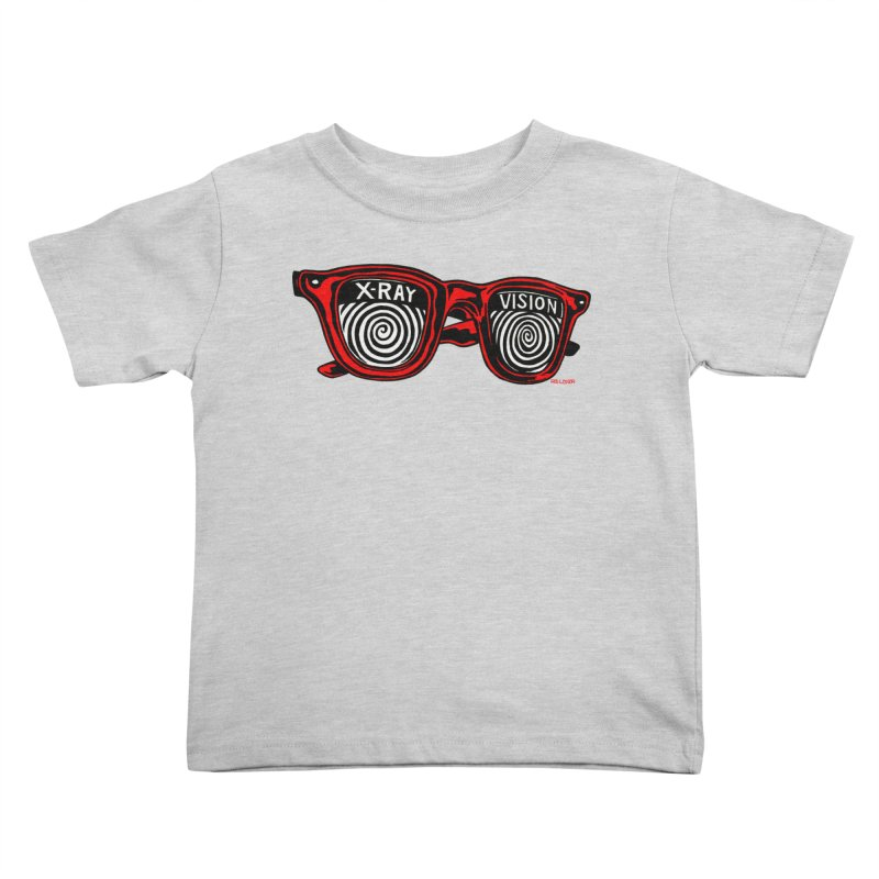 X-RAY Vision Kids Toddler T-Shirt by redleggerstudio's Shop