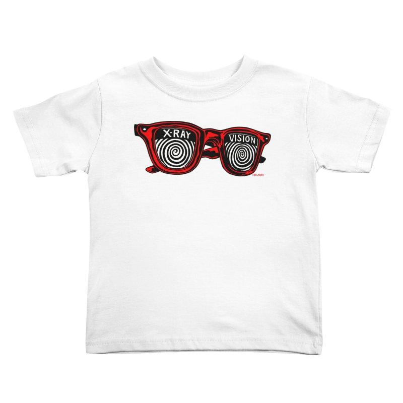 X-RAY Vision Kids Toddler T-Shirt by redleggerstudio's Shop