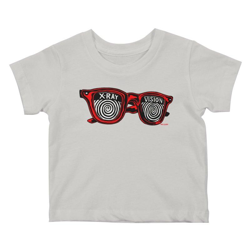X-RAY Vision Kids Baby T-Shirt by redleggerstudio's Shop
