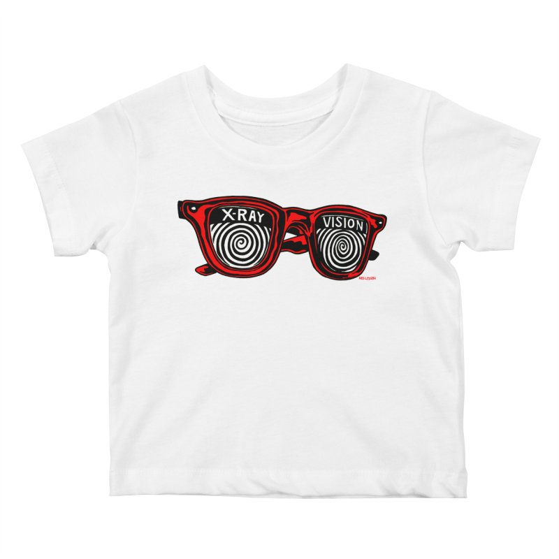 X-RAY Vision Kids Baby T-Shirt by redleggerstudio's Shop