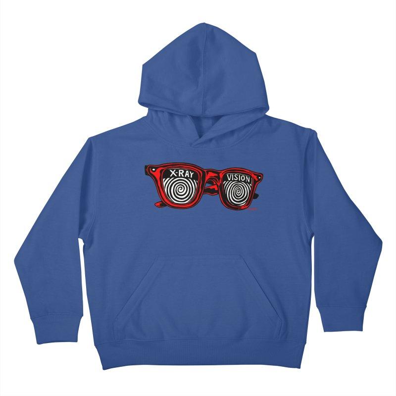 X-RAY Vision Kids Pullover Hoody by redleggerstudio's Shop