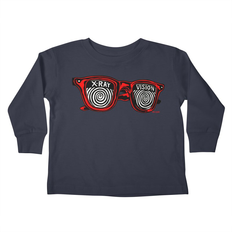 X-RAY Vision Kids Toddler Longsleeve T-Shirt by redleggerstudio's Shop