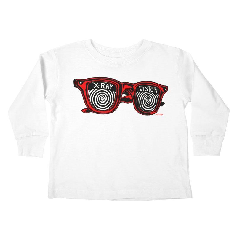 X-RAY Vision Kids Toddler Longsleeve T-Shirt by redleggerstudio's Shop