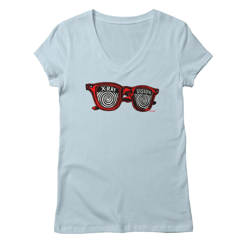 X-RAY Vision Women's Regular V-Neck by redleggerstudio's Shop