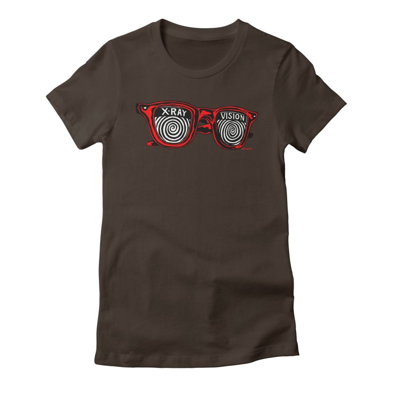 X-RAY Vision Women's Fitted T-Shirt by redleggerstudio's Shop