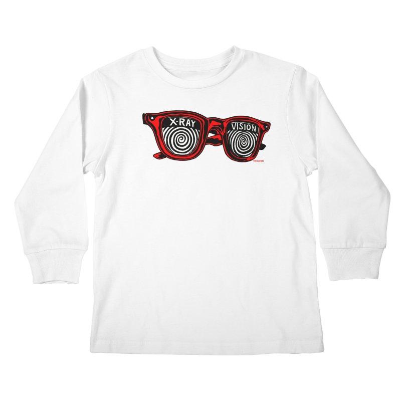 X-RAY Vision Kids Longsleeve T-Shirt by redleggerstudio's Shop