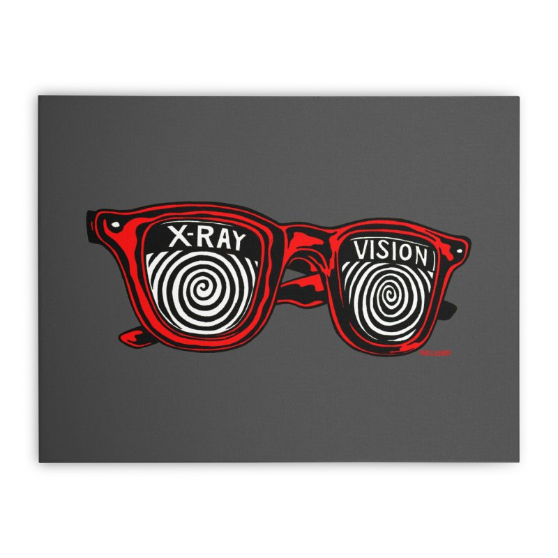 X-RAY Vision Home Stretched Canvas by redleggerstudio's Shop