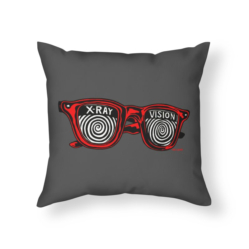 X-RAY Vision Home Throw Pillow by redleggerstudio's Shop