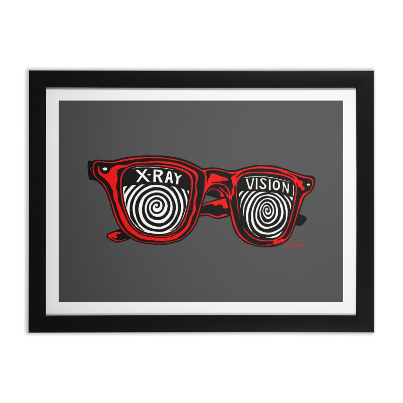 X-RAY Vision Home Framed Fine Art Print by redleggerstudio's Shop