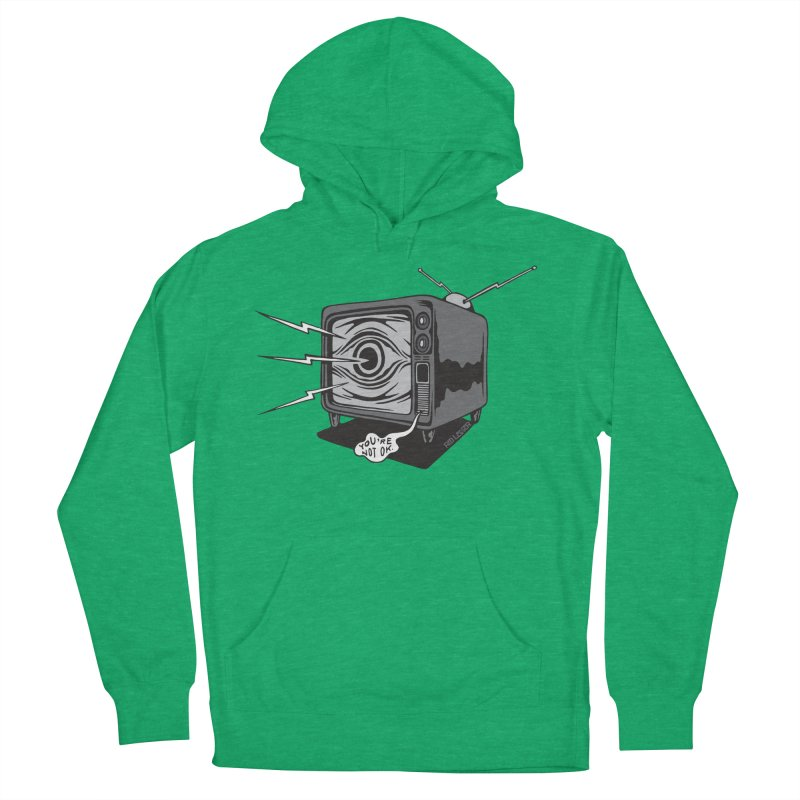 TV Time Men's French Terry Pullover Hoody by redleggerstudio's Shop