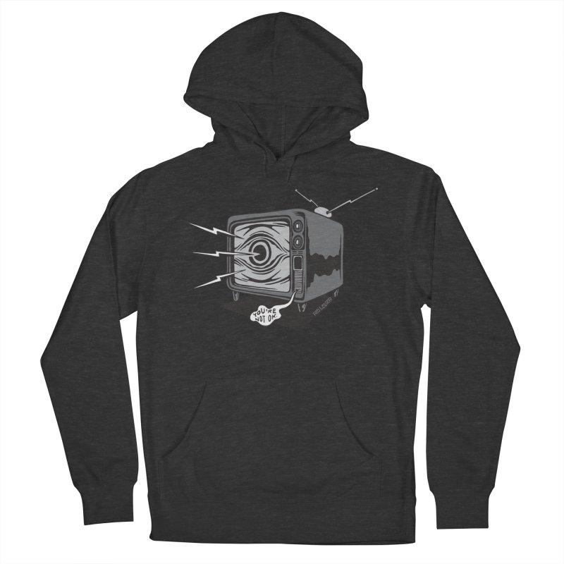 TV Time Men's Pullover Hoody by redleggerstudio's Shop