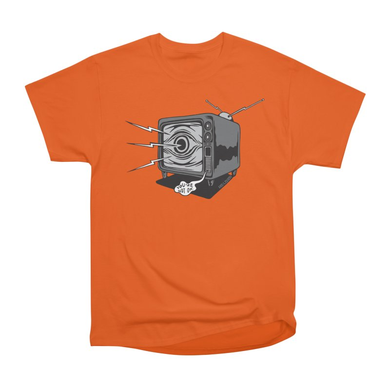 TV Time Women's Heavyweight Unisex T-Shirt by redleggerstudio's Shop