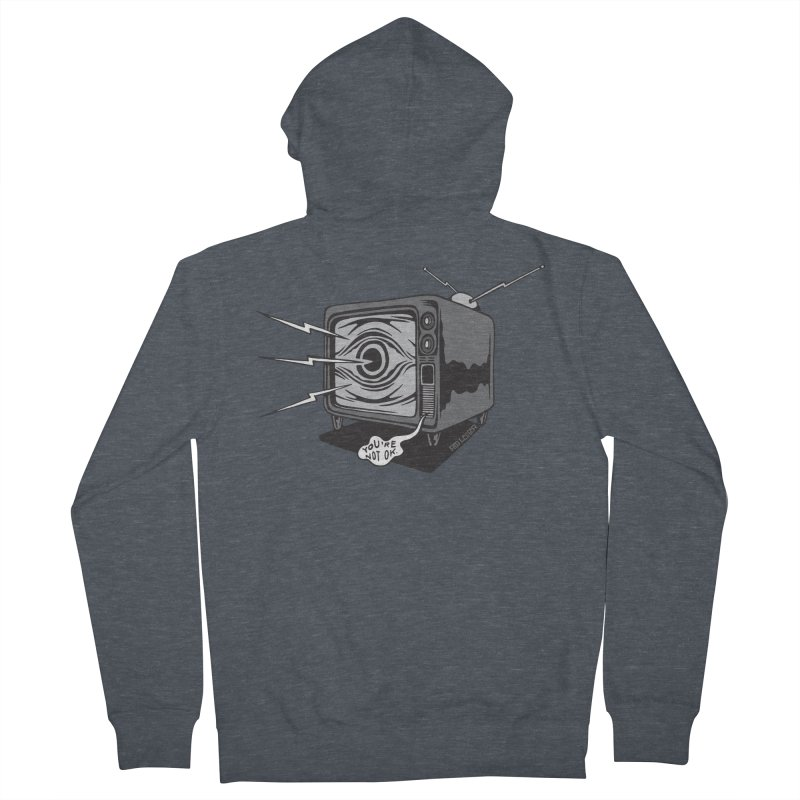 TV Time Men's French Terry Zip-Up Hoody by redleggerstudio's Shop