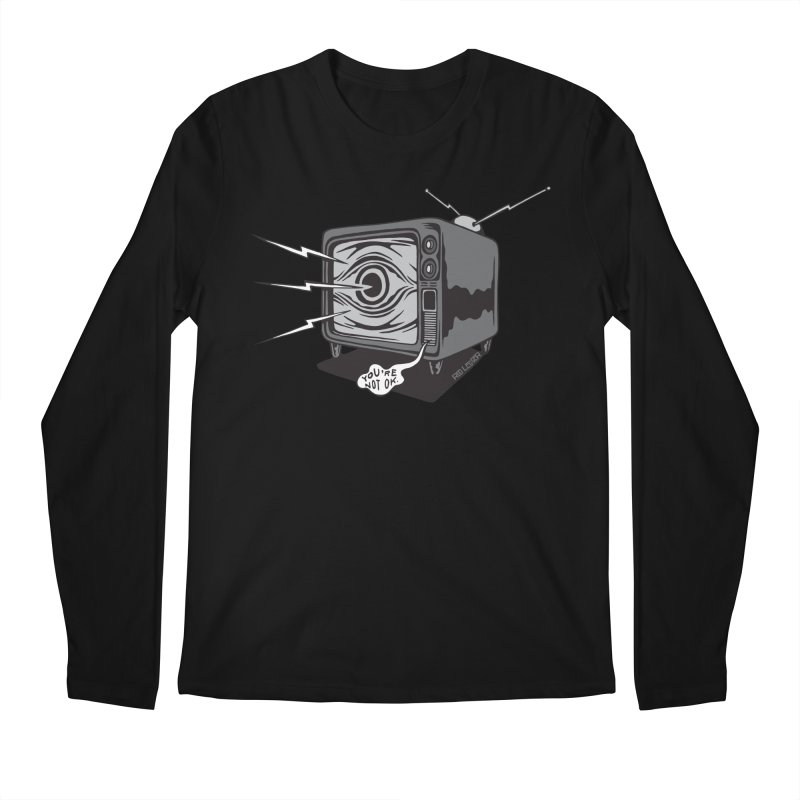 TV Time Men's Longsleeve T-Shirt by redleggerstudio's Shop