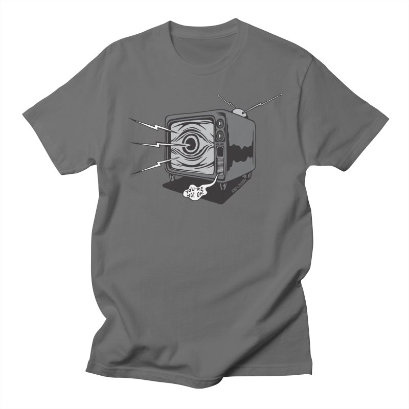 TV Time Men's T-Shirt by redleggerstudio's Shop