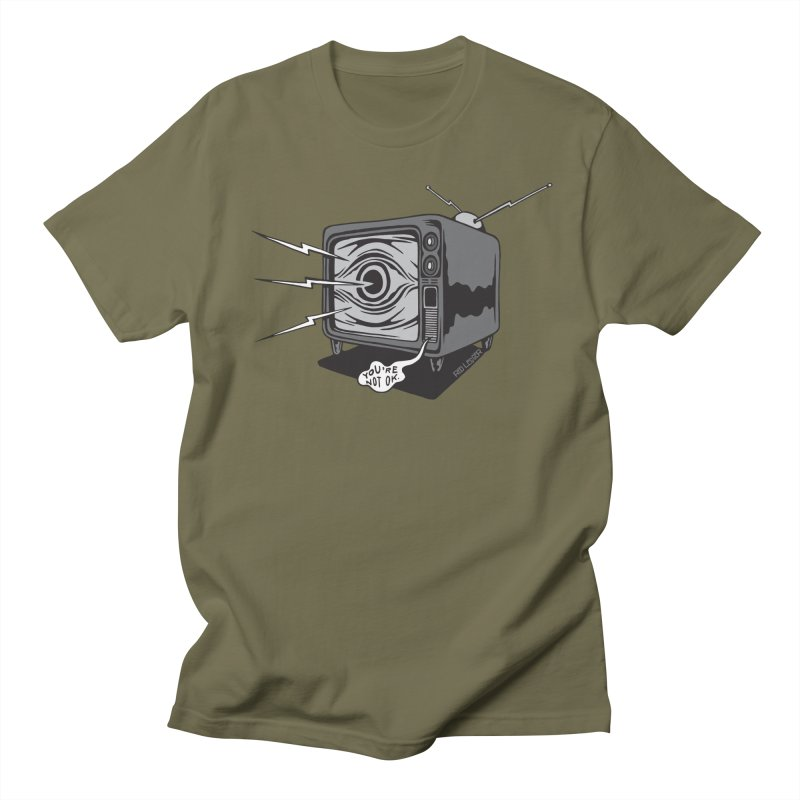 TV Time Men's Regular T-Shirt by redleggerstudio's Shop