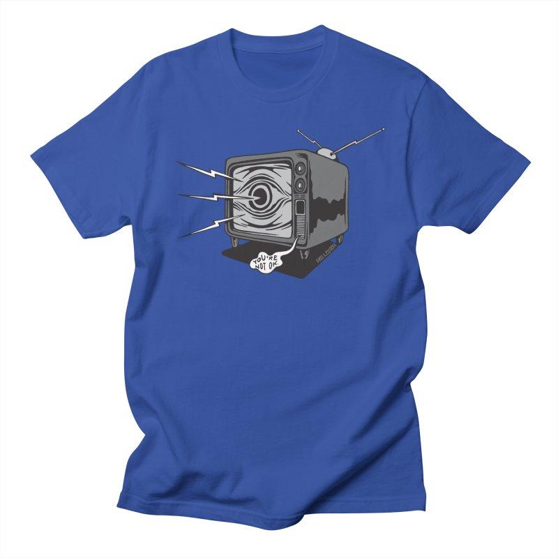 TV Time Men's T-Shirt by redleggerstudio's Shop
