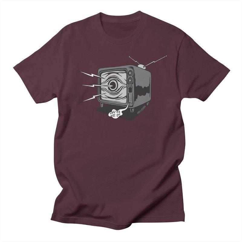 TV Time Women's Regular Unisex T-Shirt by redleggerstudio's Shop