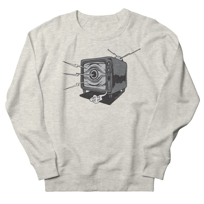 TV Time Women's French Terry Sweatshirt by redleggerstudio's Shop