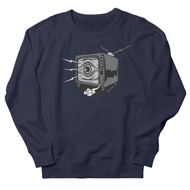 TV Time Men's French Terry Sweatshirt by redleggerstudio's Shop