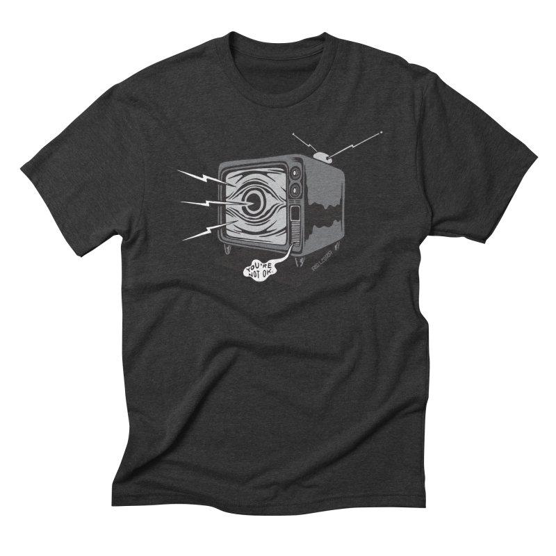 TV Time Men's Triblend T-Shirt by redleggerstudio's Shop
