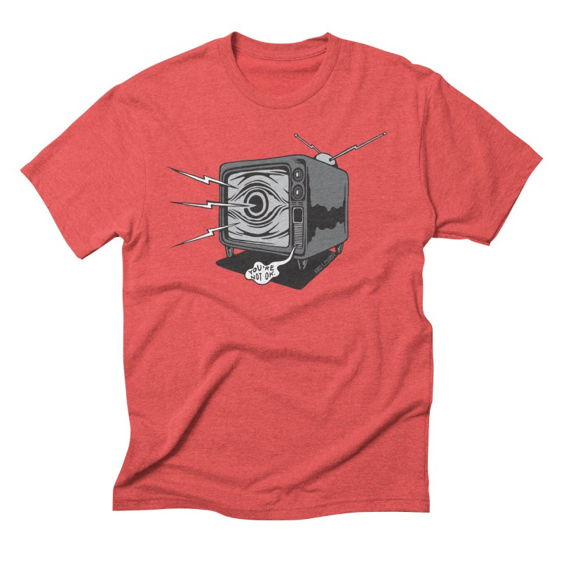 TV Time Men's Triblend T-Shirt by redleggerstudio's Shop