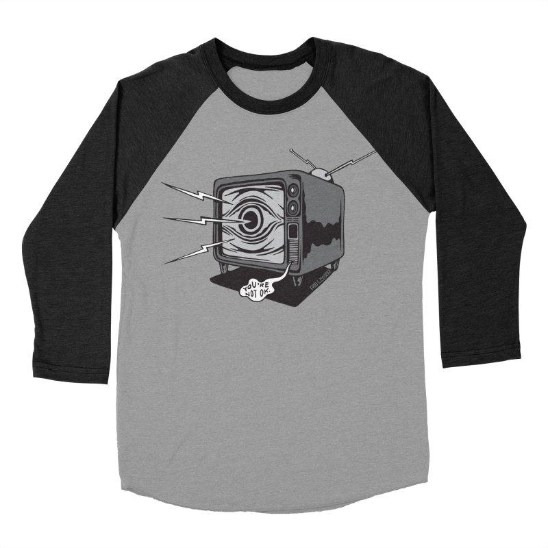 TV Time Women's Baseball Triblend T-Shirt by redleggerstudio's Shop