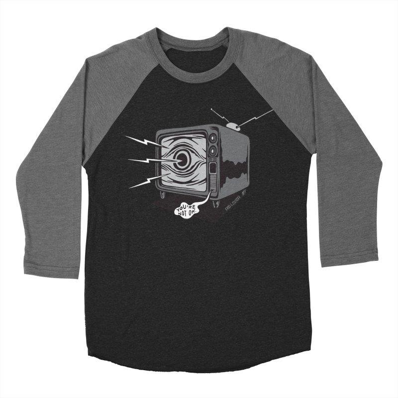 TV Time Men's Baseball Triblend T-Shirt by redleggerstudio's Shop