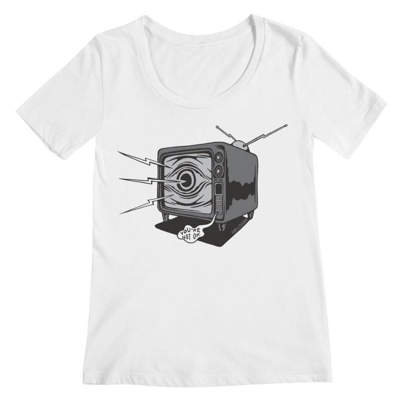 TV Time Women's Regular Scoop Neck by redleggerstudio's Shop