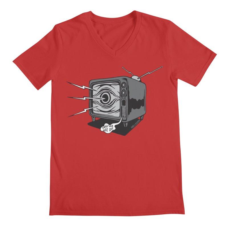 TV Time Men's V-Neck by redleggerstudio's Shop