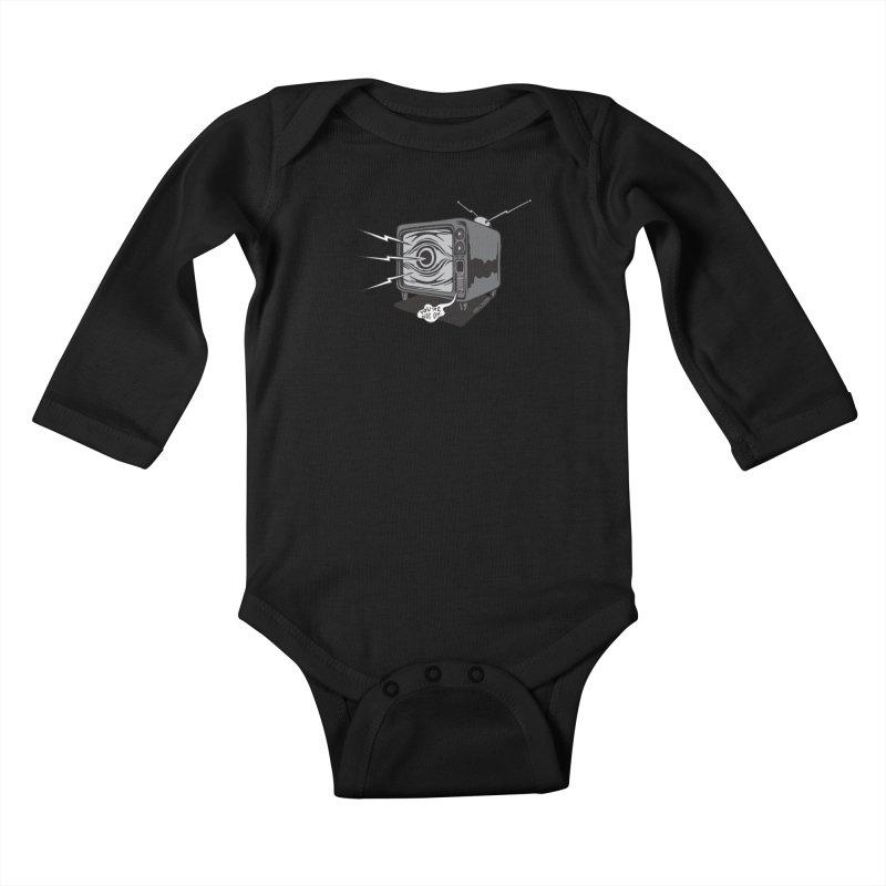TV Time Kids Baby Longsleeve Bodysuit by redleggerstudio's Shop