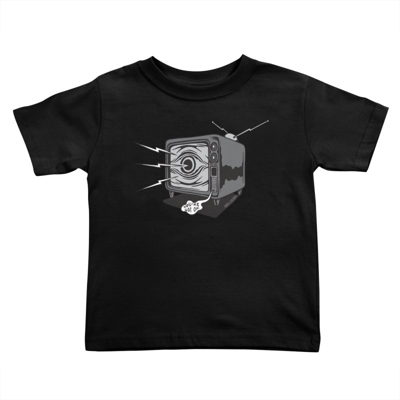 TV Time Kids Toddler T-Shirt by redleggerstudio's Shop