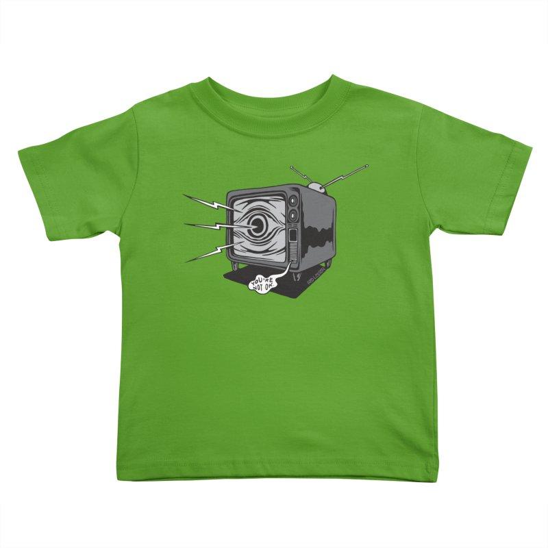 TV Time Kids Toddler T-Shirt by redleggerstudio's Shop