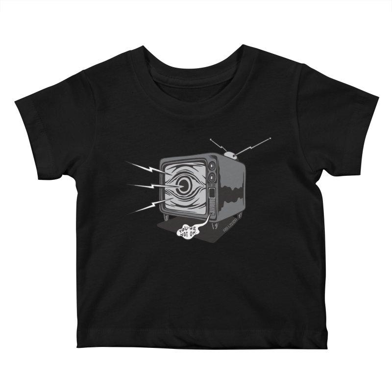 TV Time Kids Baby T-Shirt by redleggerstudio's Shop