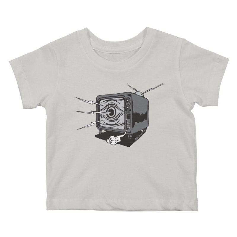 TV Time Kids Baby T-Shirt by redleggerstudio's Shop