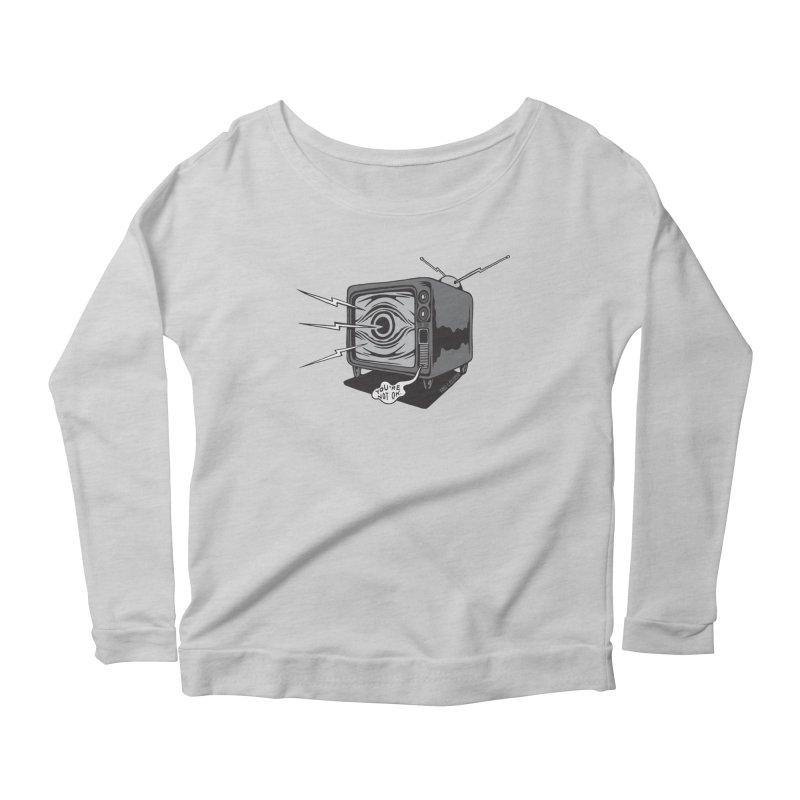 TV Time Women's Scoop Neck Longsleeve T-Shirt by redleggerstudio's Shop