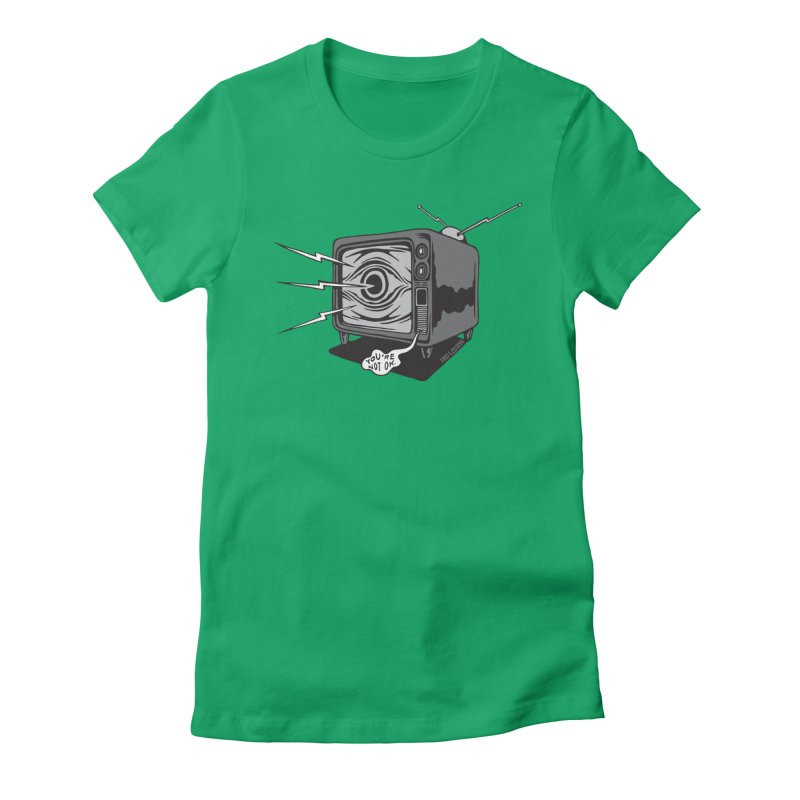 TV Time Women's Fitted T-Shirt by redleggerstudio's Shop