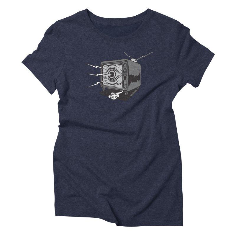 TV Time Women's Triblend T-Shirt by redleggerstudio's Shop