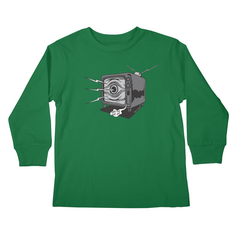 TV Time Kids Longsleeve T-Shirt by redleggerstudio's Shop