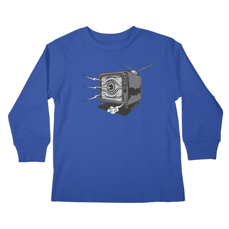 TV Time Kids Longsleeve T-Shirt by redleggerstudio's Shop