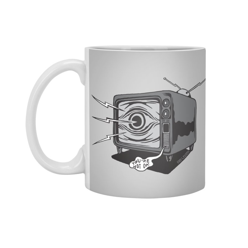 TV Time Accessories Mug by redleggerstudio's Shop
